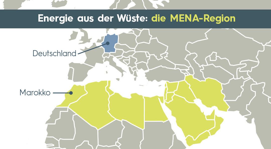 Karte MENA-Region