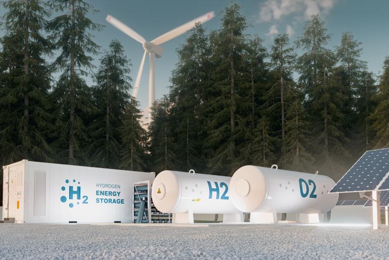Grüner Wasserstoff aus Ökostrom und Wasser