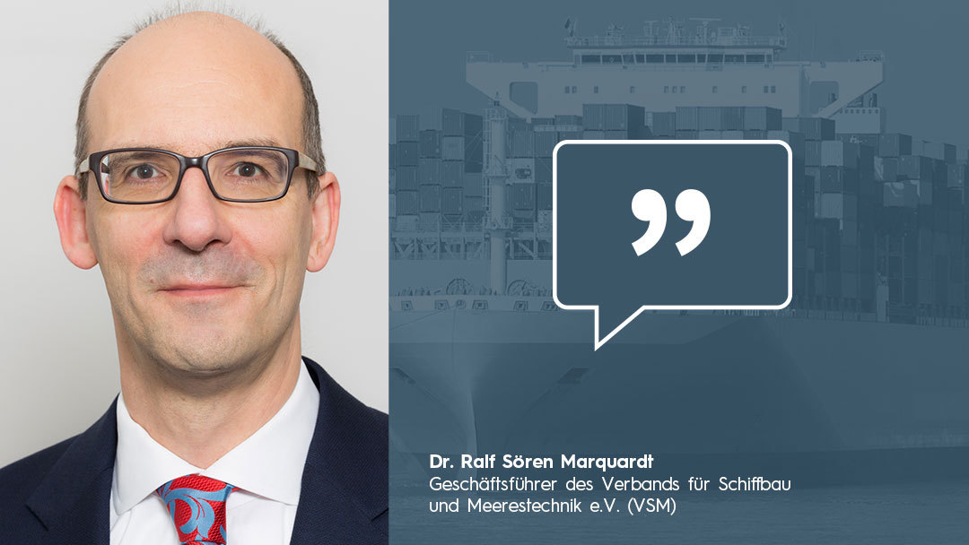 Portrait Dr. Ralf Sören Marquardt Meinung klimaneutrale Schifffahrt