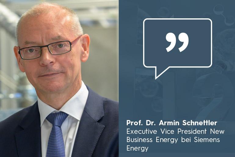 Prof. Armin Schnettler (Siemens Energy) Globale Energiewende basiert auf Wasserstoffwirtschaft