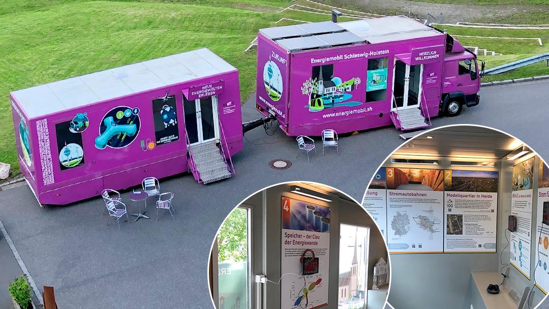 pinkes Energiemobil Schleswig-Holstein