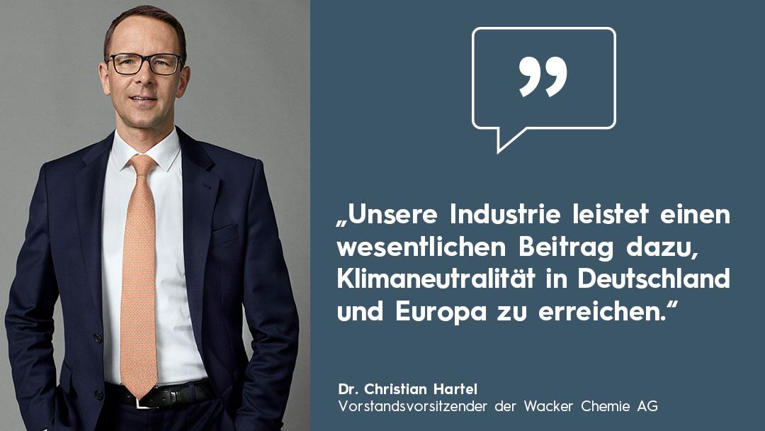 Wie kann die Chemieidnustrie klimaneutral werden Interview mit Dr. Christian Hartel, Wacker Chemie AG